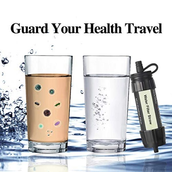 Easiestsuck Survival Water Filter 6 Easiestsuck Portable Mini Water Filter Straw 0.01 Micron,Emergency Water Filtration System for Camping, Hiking and Backpacking