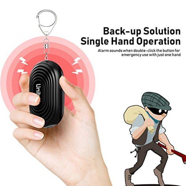 Unihoh Survival Alarm 4 130dB Safesound Personal Alarm Keychain, Siren Song, Emergency Alarm, Self Defence for Women Kids Girls Elderly, Security Sensor as Bag Decoration