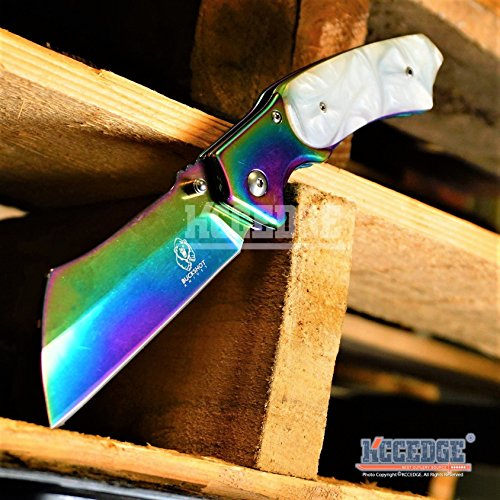 Wartech  2 Buckshot Knives 8PC Ultimate Rainbow Combo Set Tactical Outdoor EDC Pocket Folding Knife Razor Blade Cleaver Wrench Multipurpose Camping Gear Pocket Knife