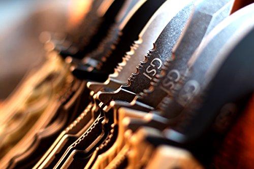 "GSI Tactical  3 GSI Tactical Camo Blackout Ops Folding Knife 4.5"" Closed"