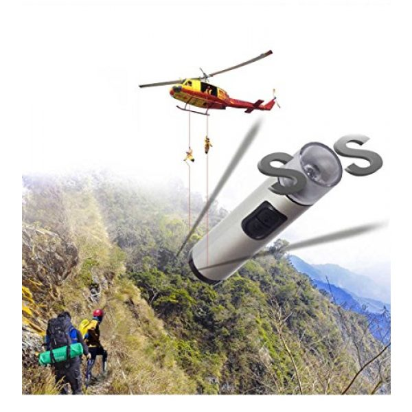 e-whistle Survival Alarm 2 e-whistle Electronic Whistle 2 in 1 Whistle + Flashlight | for Hiking, Camping, Self Defence, Sports Activity | Super Loud Over 130dB