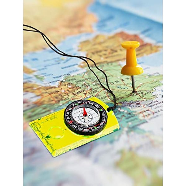 Gejoy Survival Compass 7 Gejoy 4 Pieces Navigation Hiking Compass Orienteering Backpacking Compass Waterproof Map Reading Compass for Boy Scout Kids Outdoor Camping (Style 1)