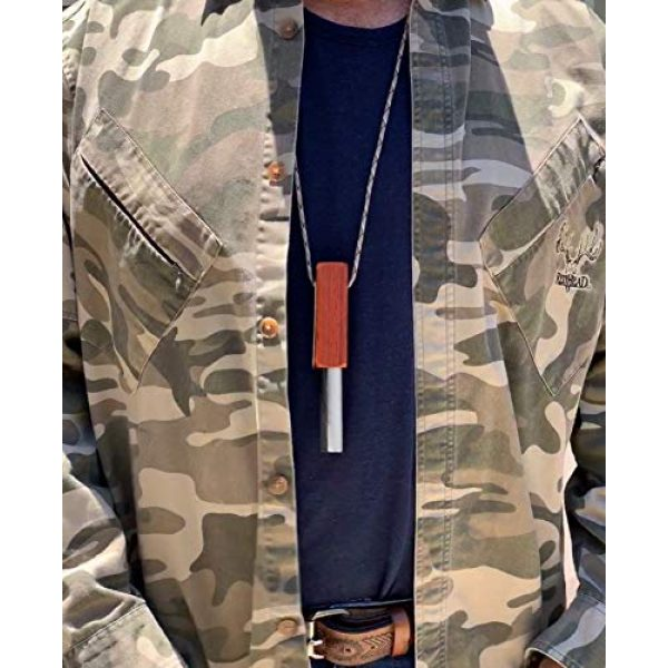 Fire-Fast Survival Gear Survival Fire Starter 7 Fire Fast Kamper Lanyard. European Fire Steel Ferro Rod and Magnesium. Compact Durable Lite Weight Emergency Fire Starter for Camping, Backpacking, Hiking.