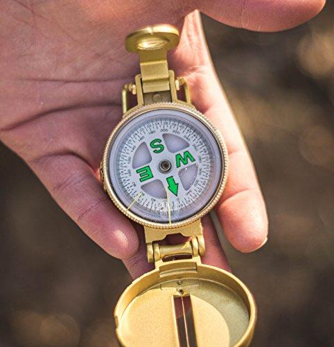 Stansport Survival Compass 3 Stansport Liquid Filled Metal Lensatic Compass