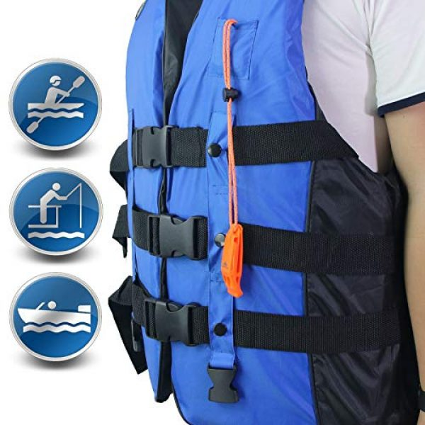 LuxoGear Survival Whistle 3 LuxoGear Emergency Whistles with Lanyard Safety Whistle Survival Shrill Loud Blast for Kayak Life Vest Jacket Boating Fishing Boat Camping Hiking Hunting Rescue Signaling Kids Lifeguard Plastic 2 Pack