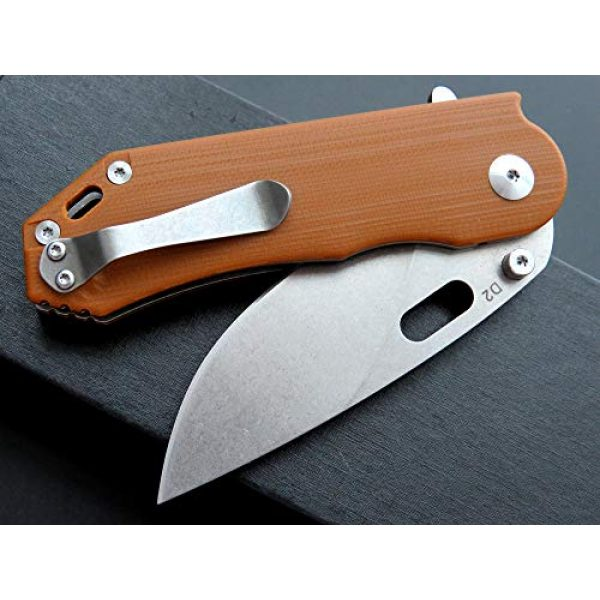 Eafengrow Folding Survival Knife 5 Eafengrow Pocket Knives D2 Blade and G10 Handle Folding Camping Knife Mini Outdoor Pocket Knife Survival Tool