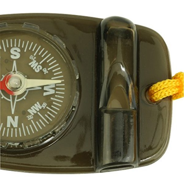 Skywalker Survival Compass 3 Compass with Safety Whistle and Lanyard, Black