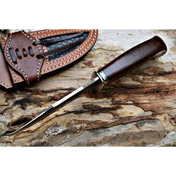 Bobcat Knives Fixed Blade Survival Knife 3 Bobcat Knives Custom Handmade Hunting Knife Bear Hunter Damascus Steel Overall 10''