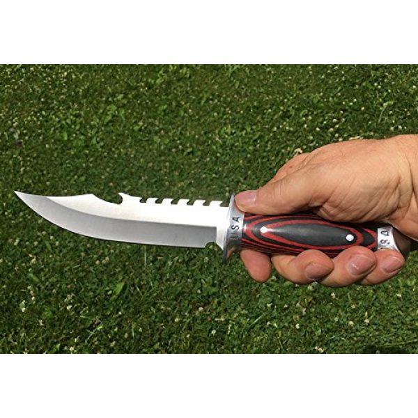 eTradewinds Fixed Blade Survival Knife 4 eTradewinds USA Combat Bowie Hunting Knife w/Sheath, Pakkawood Handle, Razor Sharp 420 SS Rust Free Full Tang Fixed Blade by
