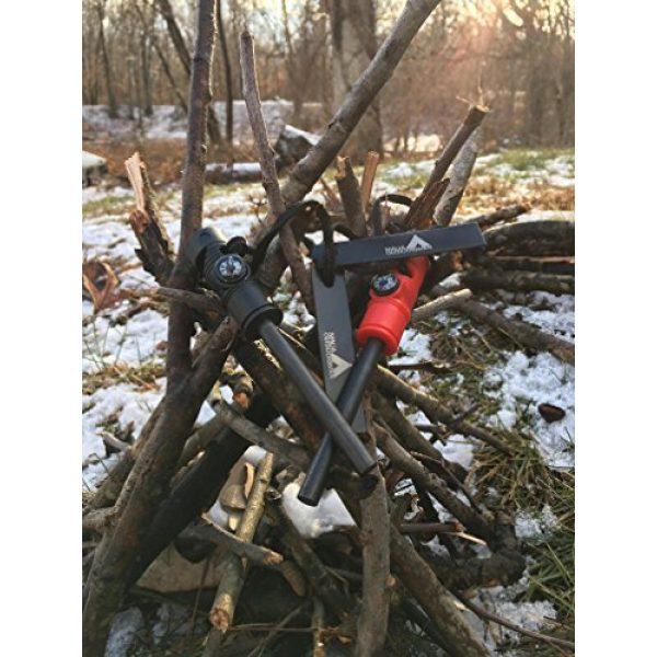 Ninja Outdoorsman Survival Fire Starter 5 Ninja Outdoorsman Emergency Fire Starter Multi Tool with Compass and Whistle