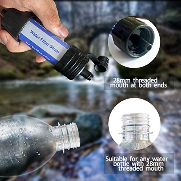 Easiestsuck Survival Water Filter 5 Easiestsuck Portable Mini Water Filter Straw 0.01 Micron,Emergency Water Filtration System for Camping, Hiking and Backpacking
