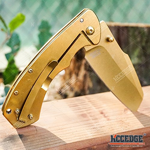 KCCEDGE BEST CUTLERY SOURCE  6 KCCEDGE BEST CUTLERY SOURCE Pocket Knife Camping Accessories Razor Sharp Edge Sheep's Foot Folding Knife Camping Gear EDC Survival Kit 58304