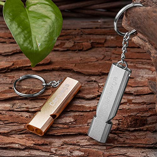 Safety Survival High Pitch Metal Whistle for Hiking