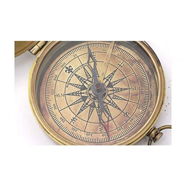 Roorkee Instruments India Survival Compass 4 Thoreau's Go Confidently Quote/Robert Frost Poem Engraved Compass/J R R Tolkien/John Mascficld/ Quote Compass/Gift for All Occasion.Camping Compass, Boating Compass