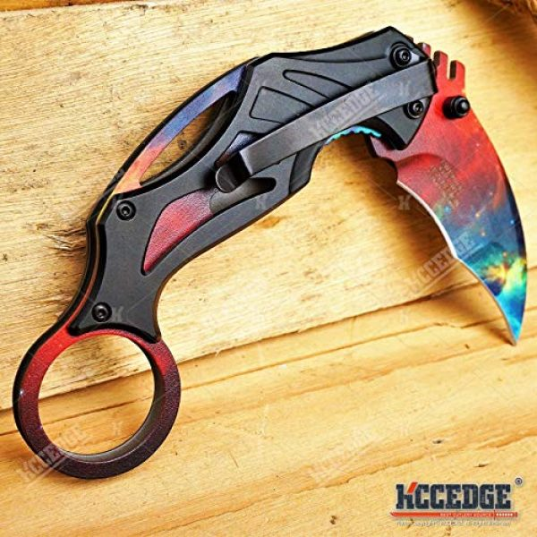 KCCEDGE BEST CUTLERY SOURCE Folding Survival Knife 6 KCCEDGE BEST CUTLERY SOURCE Pocket Knife Camping Accessories Survival Kit Razor Sharp 7 Inch Karambit Tactical Knife Hunting Knife Camping Gear 78609