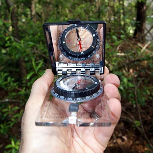 UST Survival Compass 4 UST Folding Map Compass