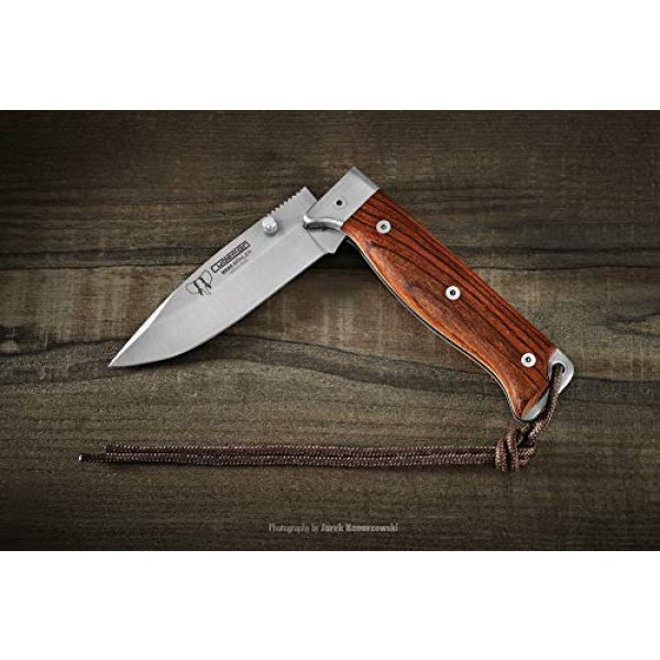 Cudeman Folding Survival Knife 3 Cudeman Survival Folding Knife MT-4 384-K with Handle Cocobolo Blade 10 cm and Cover