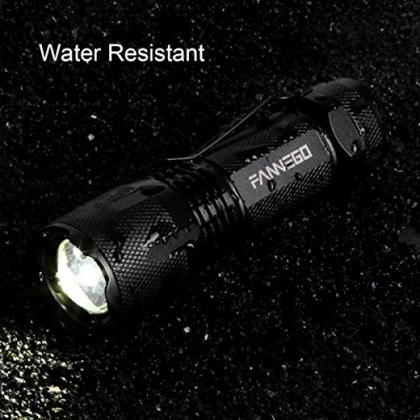FANNEGO Survival Flashlight 4 LED Flashlight,FANNEGO Tactical Torch Light Handheld LNG Hunting Sight Zoomable and Waterproof for Camping Hikiearch Survival,Batteries Not Included