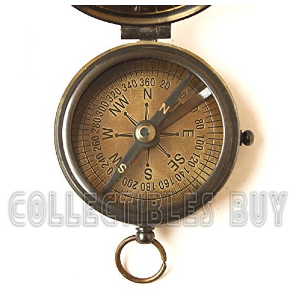collectiblesBuy Survival Compass 4 collectiblesBuy Brass Compass Vintage Finish Kelvin Hughes 100 Year Calendar Compasses lid Compass