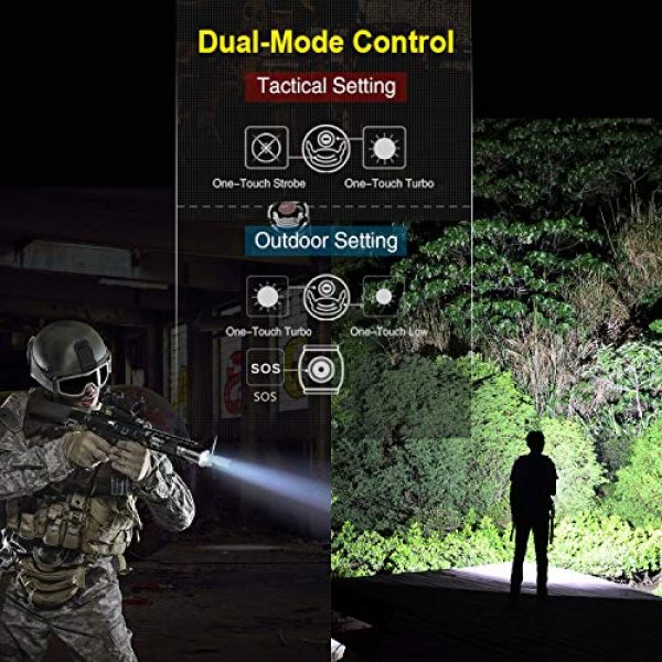 klarus Survival Flashlight 3 klarus XT21X 4000 Lumens Rechargeable Advanced Tactical Flashlight, Beam Reach 316m, CREE XHP70.2 P2 LED, 5000mAh IMR 21700 Battery, Super Bundle