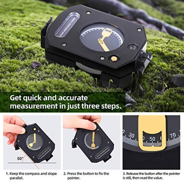 Sportneer Survival Compass 4 Sportneer Lightweight Sighting Compass with Inclinometer, Distance Calculator, Military Lensatic Waterproof Survival Compasses for Camping, Hiking, Backpacking, Boy Scout,Navigation, Boating