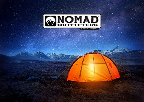 Nomad Survival Fire Starter 4 FireSteel Glow - Glow-In-The-Dark Survival Fire Starter - 15,000 Strike Ferrocerium Rod, Lumilight Luminous Handle, 6 in One Multi Tool, Shock Cord Lanyard, Survival Hiking Hunting Camping Backpacking