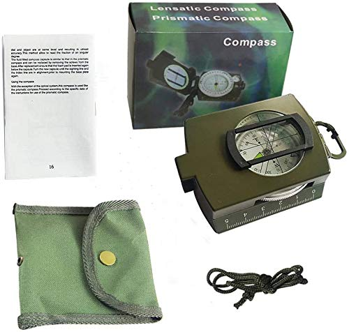 ydfagak Survival Compass 7 ydfagak Compass, Waterproof Hiking Military Navigation Compass with Fluorescent Design,Perfect for Camping Hiking and Other Outdoor Activities