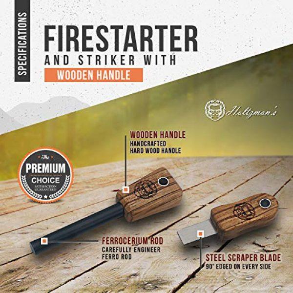 Holtzman's Gorilla Survival Survival Fire Starter 6 Holtzman's Gorilla Survival Fire Starter Gift Set Emergency Ferro Rod Kit W/Leather Sheath