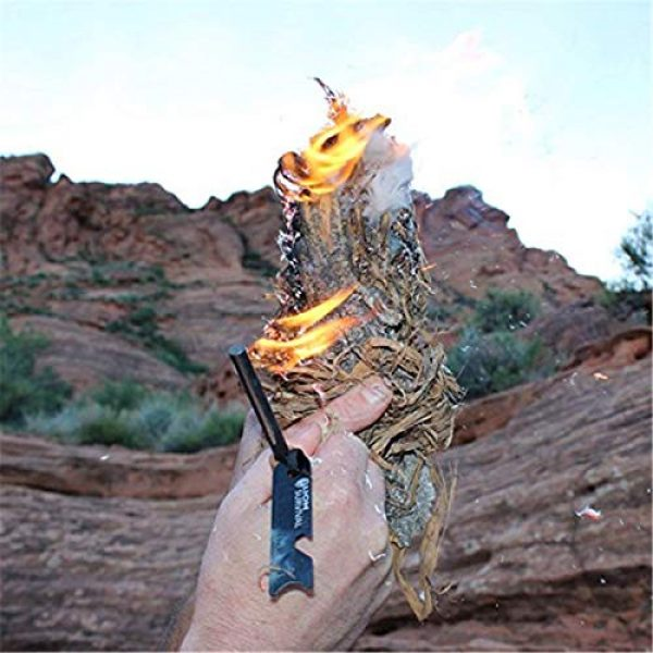 Yous Survival Fire Starter 7 Yous 6pcs Scraper Striker Set for Ferro Rod,Small Multi-Function Tool for Survival,Use with Ferro Rod Made of Carbon Steel