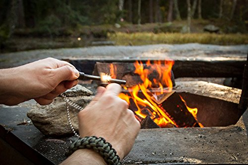 The Friendly Swede Survival Fire Starter 2 The Friendly Swede Magnesium Alloy Emergency Easy Grip Fire Starter (2 Pack)