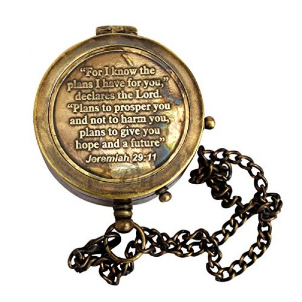 MAH Survival Compass 2 MAH for I Know The Plans I Have for You Engraved Compass, Jeremiah 29 11, Baptism Gifts, Best Easter, Birthday, Mothers Day, Fathers Day, Graduation Gift, Wedding Gifts. C-3272
