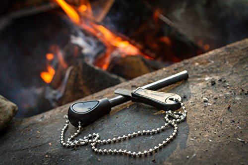 The Friendly Swede Survival Fire Starter 3 The Friendly Swede Magnesium Alloy Emergency Easy Grip Fire Starter (2 Pack)