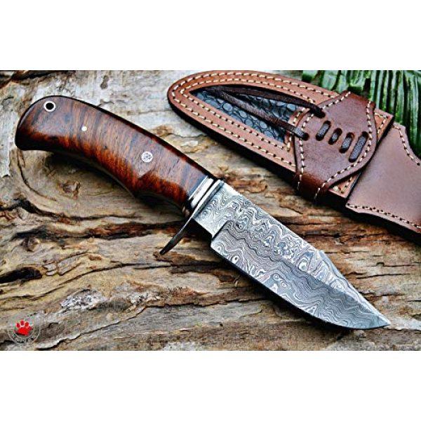 Bobcat Knives Fixed Blade Survival Knife 2 Bobcat Knives Custom Handmade Hunting Knife Bear Hunter Damascus Steel Overall 10''