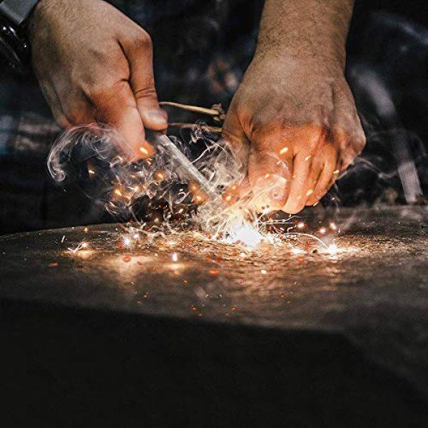 "WESTLAKE Survival Fire Starter 3 WESTLAKE Set of Two Survival 5/16"" Ferrocerium (Ferro) Rods Flint Fire Starter Kits with Wood Handles and Steel Strikers"