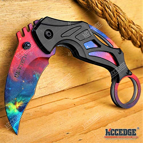 KCCEDGE BEST CUTLERY SOURCE  5 KCCEDGE BEST CUTLERY SOURCE Pocket Knife Camping Accessories Survival Kit Razor Sharp 7 Inch Karambit Tactical Knife Hunting Knife Camping Gear 78609