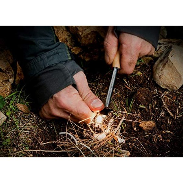 BLUEGOBY Survival Fire Starter 3 BLUEGOBY Fire Starter 5/16 Thick Bushcraft Fire Steel with Handcrafted Wood Handle 12,000 Strikes Traditional Survival Ferro Rod Neck Lanyard Fire Stick