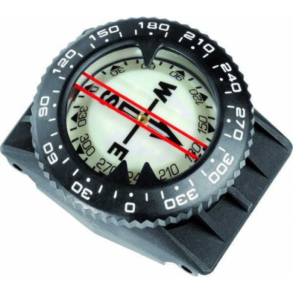 Cressi Survival Compass 3 Cressi Underwater Compass for Scuba Diving | Easy-to-Read Instrument in All Conditions