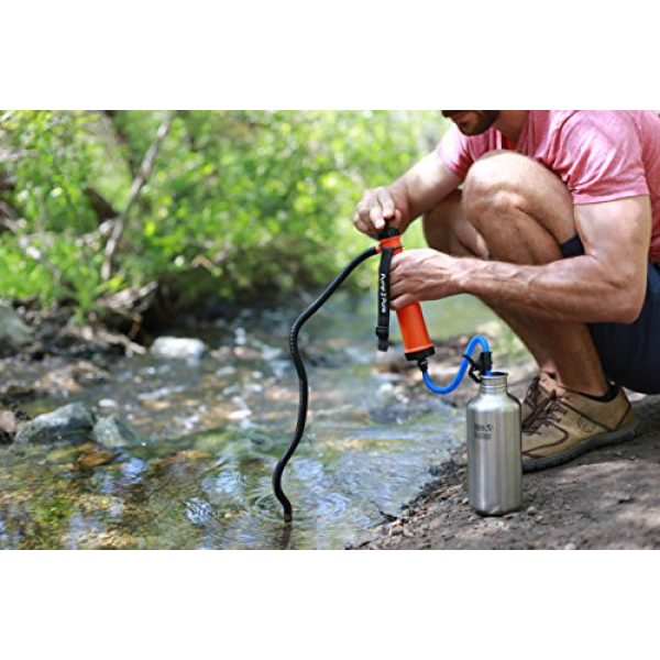 Seychelle Survival Water Filter 7 Seychelle Portable Water Filter Camping Pump - Outdoors, Hiking, Travel, Emergency Preparedness - Removes Bacteria, Viruses, Radiological Contaminants - Large Size