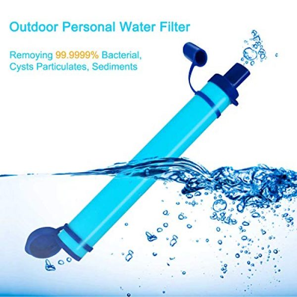 DOTSOG Survival Water Filter 2 DOTSOG 2 Pack Personal Water Filter Straw BPA Free with 1000L 3-Stage,Portable Water Purifier Lightweight for Hiking Camping Survival Outdoor Backpacking Traveling Emergency