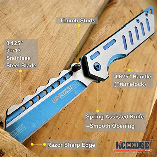KCCEDGE BEST CUTLERY SOURCE  2 KCCEDGE BEST CUTLERY SOURCE Pocket Knife Camping Accessories Survival Kit Razor Sharp Modern Two Tone EDC Tactical Knife Hunting Knife Camping Gear Folding Knife 56126