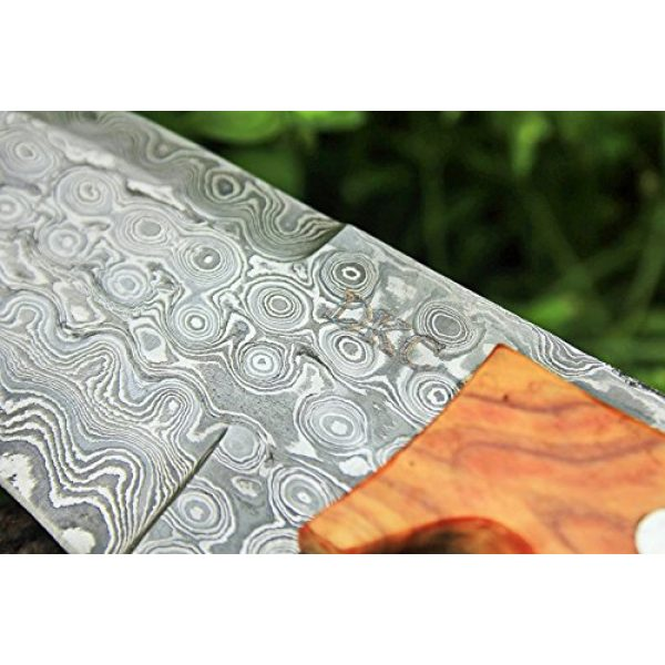 """DKC Knives Fixed Blade Survival Knife 7 DKC Knives (17 5/18) Sale DKC-85 Tomcat Damascus Skinner Hunting Knife 9"""" Long 4.5"""" Blade 11.2oz High Class Looks Incredible Feels Great in Your Hand and Pocket Hand Made"""