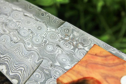 """DKC Knives  7 DKC Knives (17 5/18) Sale DKC-85 Tomcat Damascus Skinner Hunting Knife 9"""" Long 4.5"""" Blade 11.2oz High Class Looks Incredible Feels Great in Your Hand and Pocket Hand Made"""
