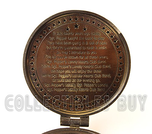 collectiblesBuy  2 collectiblesBuy Antique Vintage Compass Pocket Brass Authentic Sailor