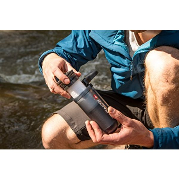 Katadyn Survival Water Filter 4 Katadyn Hiker Pro Transparent Water Filter, Lightweight, Compact Design for Personal or Small Group Camping, Backpacking or Emergency Preparedness