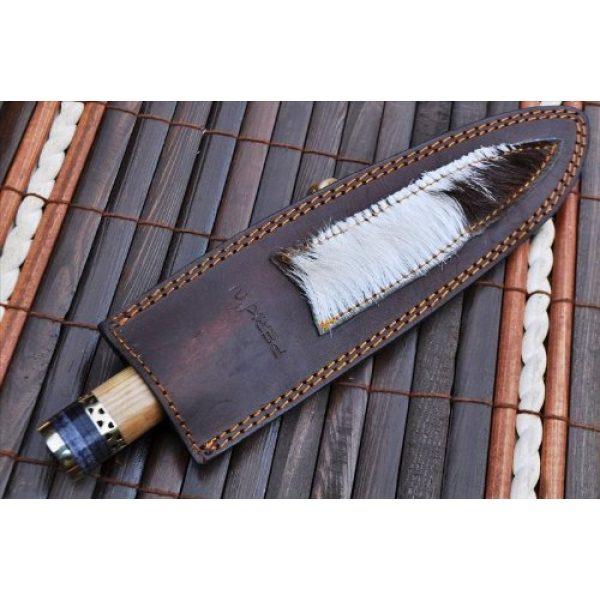 Perkin Fixed Blade Survival Knife 7 Perkin Knives - Custom Handmade Damascus Hunting Knife - Beautiful Kitchen & Camping Knife
