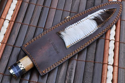 Perkin Knives  7 Perkin Knives - Custom Handmade Damascus Hunting Knife - Beautiful Kitchen & Camping Knife