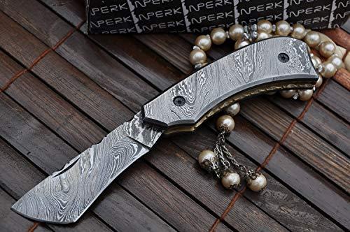Perkin  6 Perkin - Handmade Damascus Steel Pocket Knife - Beautiful Folding Knife