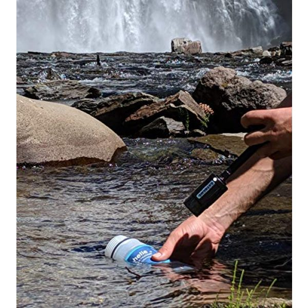 Seychelle Survival Water Filter 6 Seychelle Extreme Water Filter Bottle - Camping, Travel, Hiking, Backpacking, Survival and Emergency - Removes Bacteria, Viruses, Radiological Contaminants - 28 oz