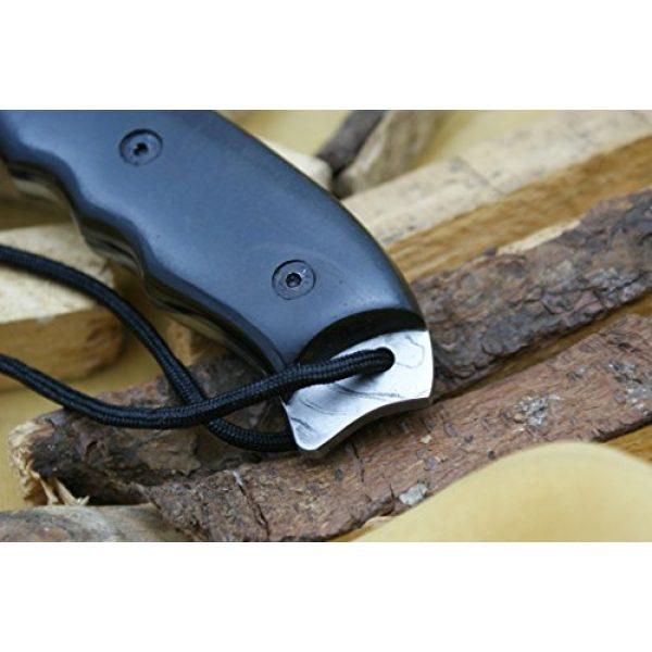 Knife King Fixed Blade Survival Knife 6 Knife King Model 2 Custom Damascus Hunting Knife Black Micarta Handle