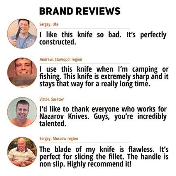 Nazarov Knives Fixed Blade Survival Knife 5 Fixed Blade Hunting Knife Vepr Damascus Steel